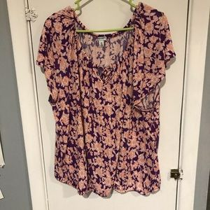 Old Navy purple and orange floral top
